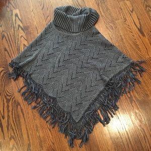 BCBG women's poncho sweater